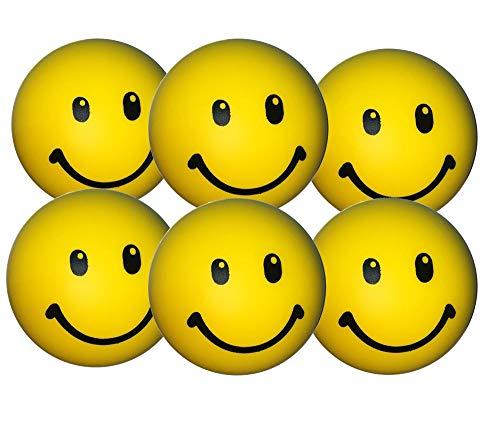 Stressballs 6 x Gelbe – Stress Ball - Antistressball , Knautschball – Kleiner Ball, Grosse Stresserleichterung