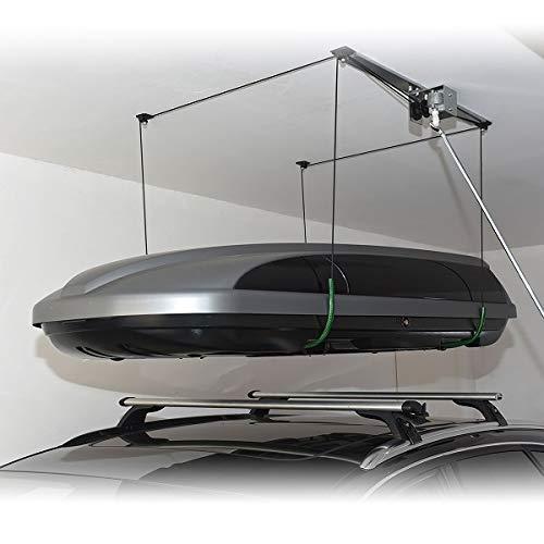 GEIGER ANTRIEBSTECHNIK Auto Kfz Dachboxenlift Dachboxlift Dachbox Dachboxen Deckenlift Garagenlift Carportlift Dachboxenhalter Deckenhalter mit Kurbel bis 100kg Traglast