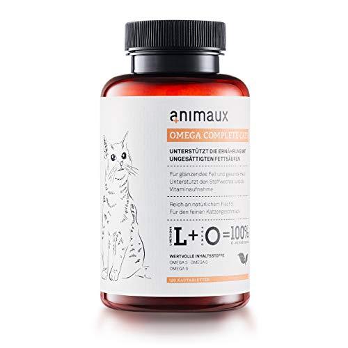 animaux – Omega Complete Cats I Fischöl-Tabletten für Katzen mit Omega 3,6 & 9 Fettsäuren zur Unterstützung von Stoffwechsel, Knochenaufbau & Herz-Kreislauf I Leckerli mit Lachsöl für Haut & Fell