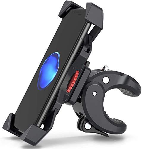 2021 Upgrade Fahrrad Handyhalterung Motorrad Handyhalter Fahrrad Universal Halterung Fahrrad für 3,5-7,0 Zoll Smartphone mit 360° Drehbare Outdoor Fahrrad Halter, von FYLINA Phone Holder Bike