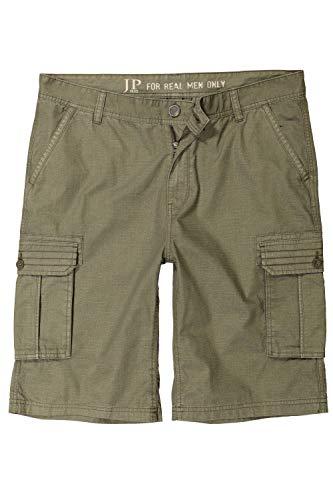 JP 1880 Herren große Größen bis 70, Cargo-Bermuda, Shorts, Kurze Hose, 6 Taschen, Oliv 66 717028 43-66