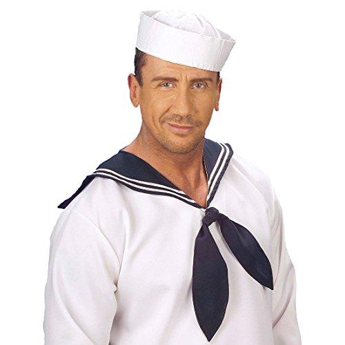 Amakando Matrosenmütze Matrosenhut weiß Hut Seemann Matrosen Mütze Matrosin Kopfbedeckung Sailor Seemannshut
