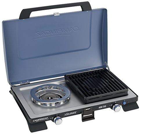 Campingaz 400 SG Campingkoche, Kompakter Outdoor Kocher Mit Windschutz, blau, S