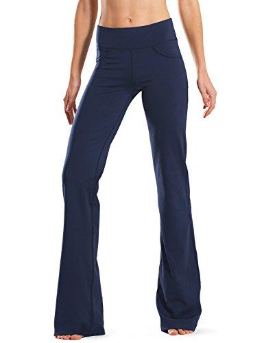 Safort Regular/Tall Bootcut Yoga Hose mit 71cm/76cm/81cm/86cm Schrittlänge, 4 Hosentaschen, Blau, XXL