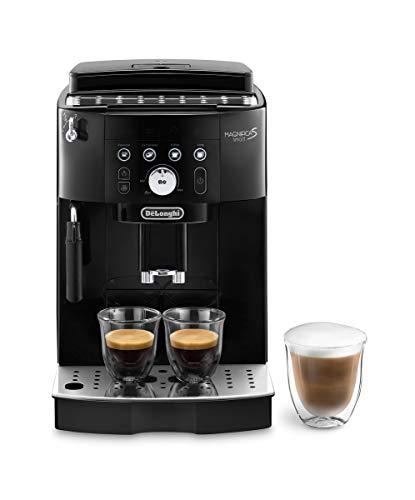 De'Longhi Magnifica S Smart ECAM 230.13.B Kaffeevollautomat mit Milchaufschäumdüse für Cappuccino, beleuchtete Direktwahltasten für Espresso, Kaffee und Long Coffee, 2-Tassen-Funktion, schwarz