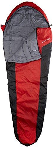 10T Schlafsack Yukon XL -3° warm weich 1400g leicht Mumienschlafsack 230x85 Rot/Schwarz 125g/m²