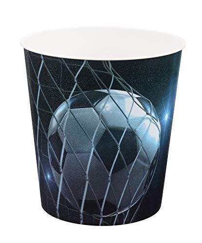 Idena 10488 - Papierkorb aus PP, Fussballmotiv, 9 Liter, 1 Stück