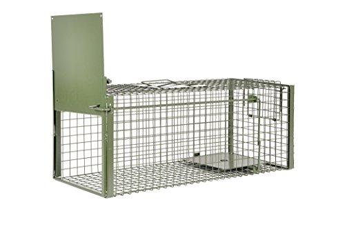 KrapTrap® Marderfalle und Katzenfalle – 75 x 29 x 28 cm Lebendfalle um Marder, Katzen, Hasen und Kaninchen lebend zu fangen und Nicht zu verletzen oder zu töten