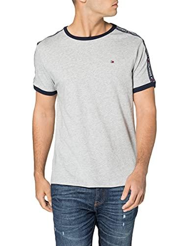 Tommy Hilfiger Herren Rn Tee Ss T-Shirt, Grau (Grey Heather 004), Large (Herstellergröße: LG)