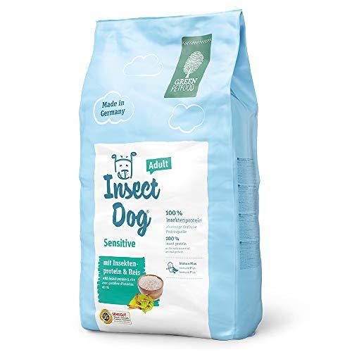 Green Petfood InsectDog Sensitive Adult (1 x 10 kg)   Hundefutter mit Insekten als einzige tierische Proteinquelle   nachhaltiges Trockenfutter für ausgewachsene Hunde   1er Pack