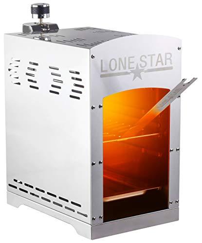 Lonestar 800°C Beef Burner gasbetrieben | 100% Steak House Qualität | Edelstahl | einfache Bedienung | Hochtemperatur Gasgrill | Beef Grill | Beefmaker