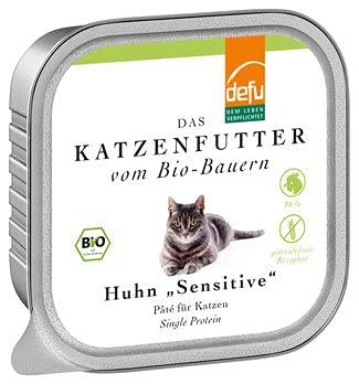 defu - Das Tierfutter vom Bio DEFU Katze Huhn Sensitive Pâté (6 x 100 gr)