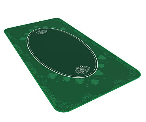 Bullets Playing Cards Universal Tischdecke für Kartenspiele, Brettspiele und Gesellschaftsspiele grün in 160 x 80cm eigenen Spieletisch - Deluxe Spieltuch – Spielteppich – Spieltischauflage