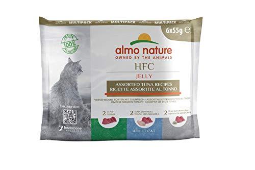 Almo Nature HFC Jelly Multipack Katzenfutter nass HFC Jelly - 3 Sorten mit Thunfisch 6 x 55g,