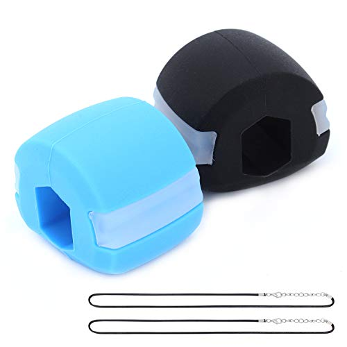 TAECOOOL Doppelkinn-Trainingsgerät, Gesichtstrainer für Gesichtsmuskeln, Chew Jawline Fitnessball für männliches weibliches Kinnmuskeltraining und Facelifting (Zwei)