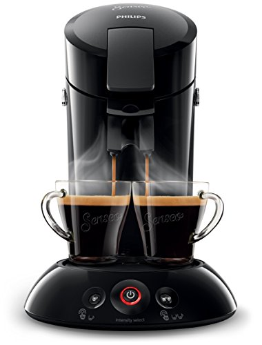 Philips Senseo New Original Kaffeepadmaschine, Crema Plus, Kaffeestärkewahl, HD6554/68, 0.7 L, 1450 W, schwarz