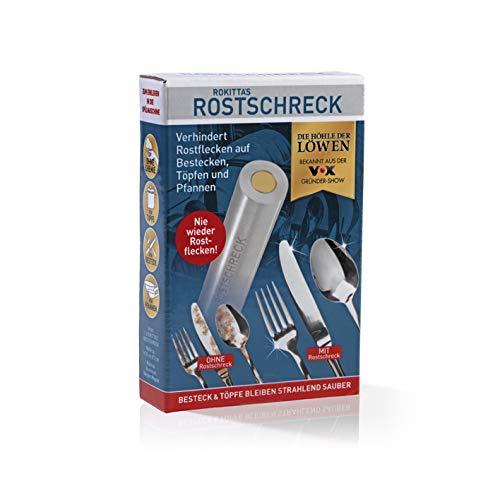 Rokitta's Rostschreck Gegen Flugrost, Verhindert Rostflecken Auf Besteck, Töpfen und Pfannen - Ohne Chemie (Aluminium), 1 Stück