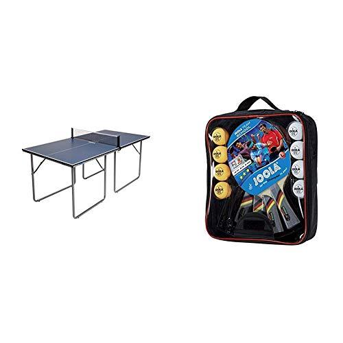 JOOLA Tischtennisplatte Midsize, 168 x 84 x 76 cm & Tischtennis-Set Team School