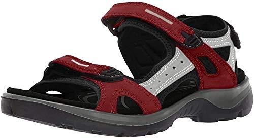 ECCO Damen OFFROAD Flat Sandal, Rot (CHILI RED/CONCRETE/BLACK), 37 EU