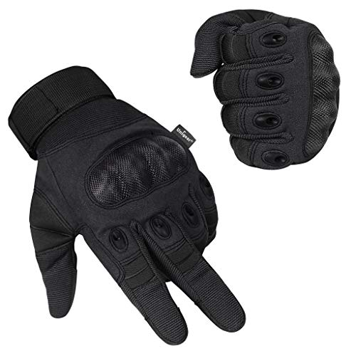 Unigear Motorrad Handschuhe Herren, Touchscreen Motorradhandschuhe mit Hard Knuckle, Leichte Fahrradhandschuhe auch geeignet für Paintball, Airsoft, Militär, Taktische Handschuhe