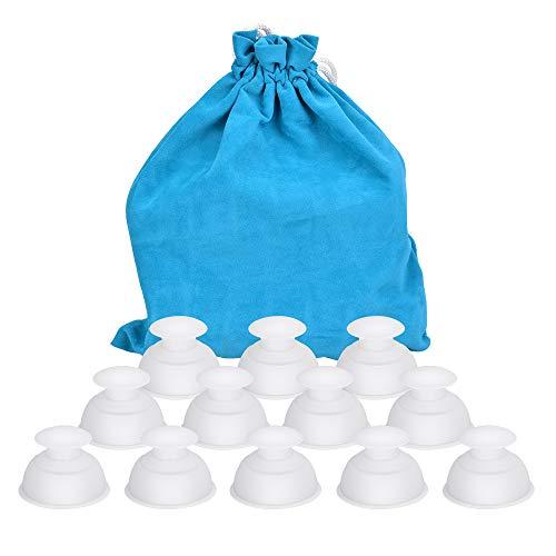 Hydream Silikon Schröpfen Cups, Anti Cellulite Massage Cups Cupping Set Therapie Set Vacuum Tassen Schröpfgläser Body Saugnäpfe Vakuum Massagegerät für Anti Aging, Muskel Entspannung (12PCS/Weiß)