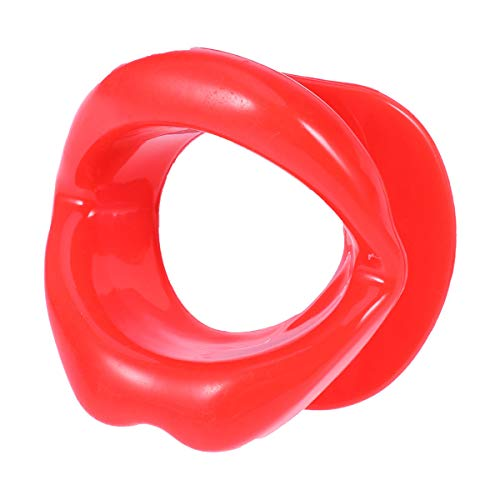 SUPVOX Silikon Gesicht Schlanker Mund Muskel Anti-Falten Mund Gesichts Übungs-Lippen (Rot)