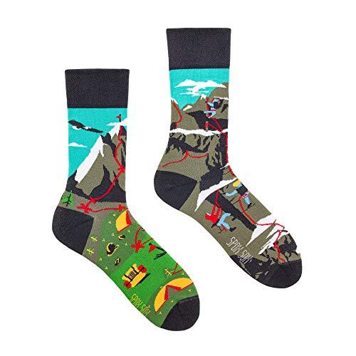 Spox Sox Casual Unisex - mehrfarbige, bunte Socken für Individualisten, Gr. 44-46, Bergklettern