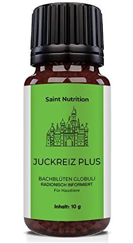 Saint Nutrition® JUCKREIZ Plus Globuli für Haustiere, Hilfe bei Hautreizungen & pflanzliches Mittel für Hunde und Katzen - Das Hausmittel für Hund und Katz, informierte Bachblütenmischung | 10g