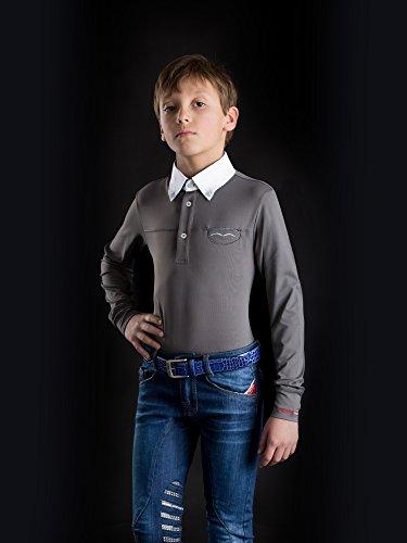 Animo Italia Boy's Reithose Kinderreithose Jeansreithose Mar (8 Jahre)