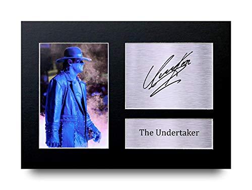 HWC Trading The Undertaker A4 Ungerahmt Signiert Gedruckt Autogramme Bild Druck-Fotoanzeige Geschenk Für WWE WWF Wrestling-Fans