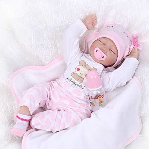 55CM Realistische Reborn Baby Puppe Kind Handgemachtes Mädchen Weiche Silikon Vinyl Kleinkind Magnetisch Mund