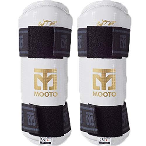 Mooto Korea Taekwondo Extera Unterarmschutz WTF-geprüfte Schutzwache Kampfkunst MMA Kickboxen Karate Match Trainingsschule Gym Academy (1. X_Small)