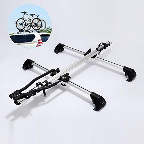 YYDE Fahrradständer, Aluminiumlegierung Dachträger, Fahrradträger Weiß, (kompatibel mit 1 Fahrräder) für SUV- und Auto-Fahrrad-Racks