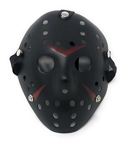 Ultra Schwarz Masken Kostüm Halloween Horror Gruselig Schaurig Erwachsene Kinder Mann Frau Freddy Gesichtsmaske vS Cosplay Eishockey