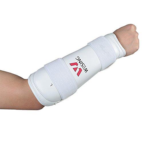 wesing Karate Unterarmschutz Kampfsport Armschutzausrüstung mit großer Größe (XL)
