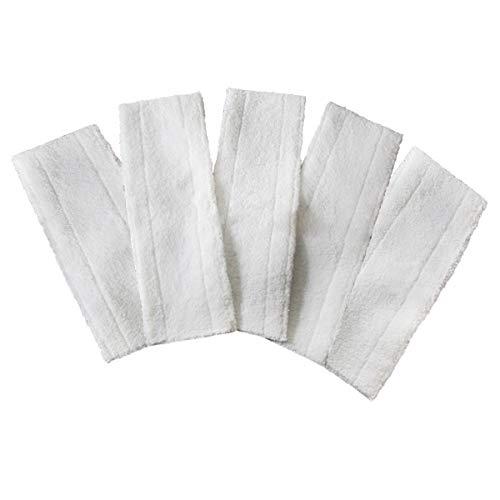 DAZISEN Dampfreiniger Microfaser Putztuch Dampfbesen Ersatztücher Sc4/Sc3/Sc5/Sc2,Weiß/Lappen