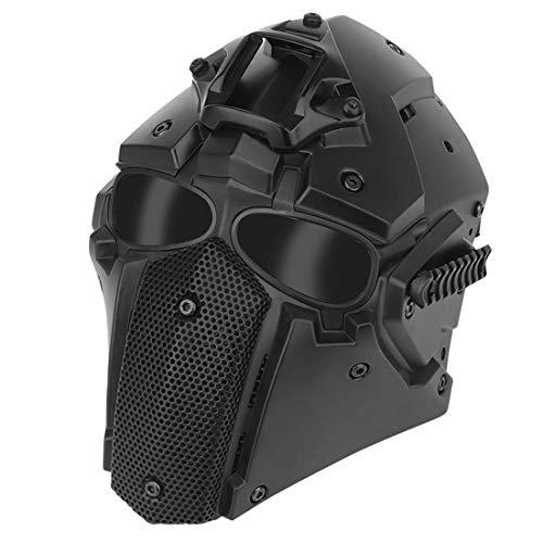 MARLO Taktischen Helm, Taktischer Outdoor Motorrad Helm für Jagd Cosplay Paintball Military Airsoft Spiele Helm - Schwarz