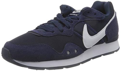 Nike Mens Venture Runner Sneaker, Midnight Navy/White-Midnight Navy,45.5 EU