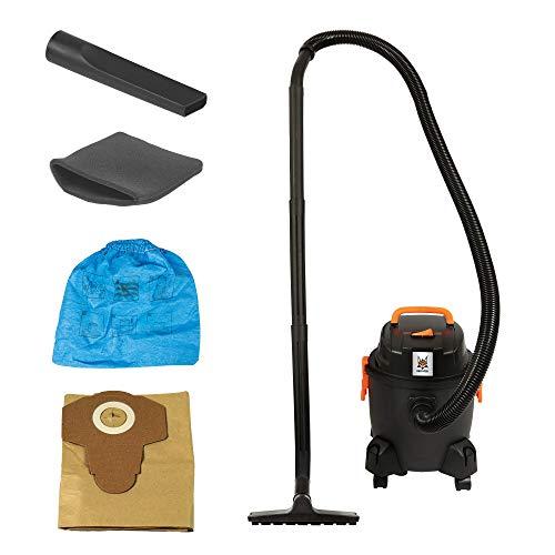 DELTAFOX Mehrzwecksauger Nass Trocken Staubsauger - 1250 Watt Motor - 15 l Kunststoffbehälter - mit Blasfunktion - 2,5 m Kabel - 14 kPA Saugleistung für beste Reinigung
