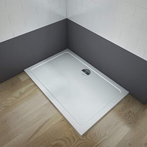 Aica Sanitär Duschtasse Duschwanne 140x90cm Rechteck Weiß mehrere Außenmaßen