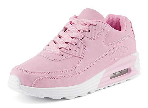 Fusskleidung Unisex Damen Herren Sportschuhe Übergrößen Laufschuhe Turnschuhe Neon Sneaker Schuhe Pink EU 38