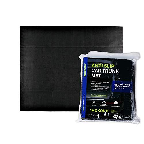 MOKONO®️ Antirutschmatte - extra groß 180x120 - schwarz - individuell zuschneidbar - Kofferraummatte für festen Halt im Auto