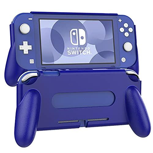 TiMOVO Griffe Kompatibel mit Nintendo Switch Lite, Schutzhülle Grip Rückseitige Halterung Hülle mit Komfortabler & Ergonomischer Schalthebel, Stoßfest und Haltbar Hülle, Spielkonsole Zubehör, Blau