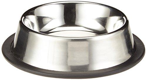 Nobby Edelstahlnapf flach, rutschfest Ø 15,5 cm 0,20 ltr