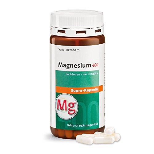 Magnesium-400-supra Kapseln mit reinem Magnesium - 120 Kapseln