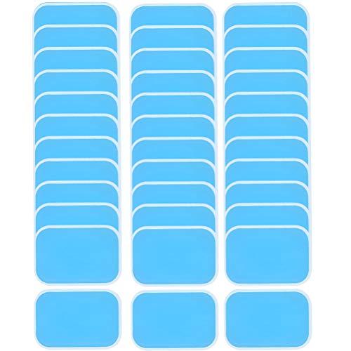QLOUNI 48 EMS Gel Pad Gels Pad für EMS Trainer Bauchtrainer Elektrische Muskelstimulation, Abs Trainer Ersatz Gel Blatt Ersatz Pad, 48 Blatt Gel EMS Pad (2 Stück/Beutel)