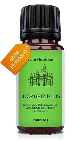Saint Nutrition® JUCKREIZ Plus Globuli für Haustiere, Hilfe bei Hautreizungen & pflanzliches Mittel für Hunde und Katzen - Das Hausmittel für Hund und Katz, informierte Bachblütenmischung   10g