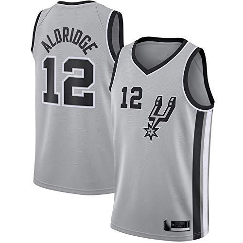 Herren Basketball Mode Sportbekleidung La Marcus Aldridge Basketball Trikot San Antonio Spurs Trikot 2020/21 Swingman Trikot - Silber