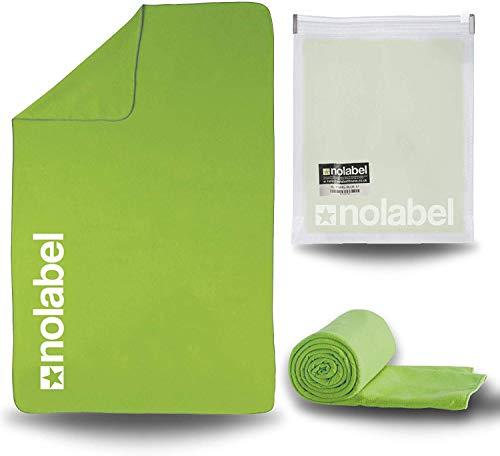 No Label Saugfähiges Sporthandtuch oder Reisehandtuch aus Mikrofaser – Handtuch fürs Fitness-Studio leicht, schnelltrocknend, kompakt (Grün)