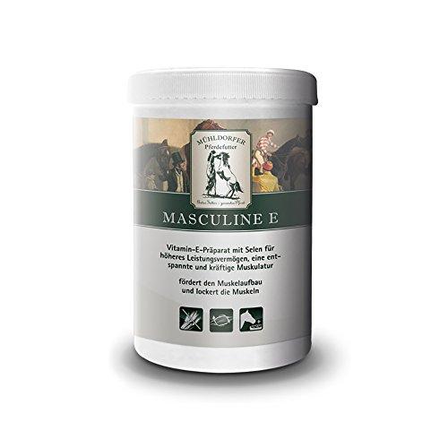 Mühldorfer Masculine E, 750 g, fördert den Muskelaufbau, für eine entspannte und kräftige Muskulatur, dopingfrei, Ergänzungsfutter für Pferde und Ponys